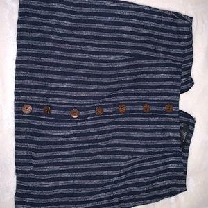 A striped mini skirt